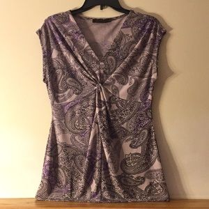 The Limited- Light Purple Paisley Top- Size Small